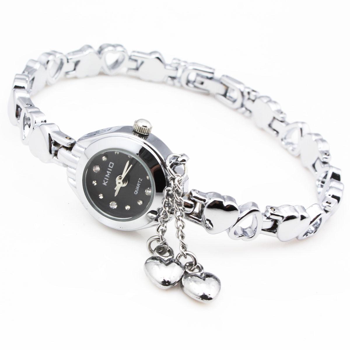 正港KIMIO石英表 韩版时尚手表 心形手链复古表 女表水钻表潮 018
