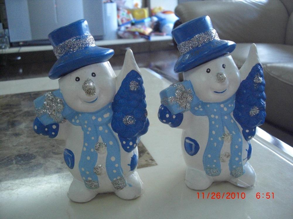 Декоративные украшения Керамические рождественские украшения дома 5 Hat открывает Разные