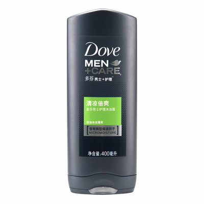 Free shipping Dove Men + Care Body Wash 400ml cool cool cool mint moisturizing times 2 bottles free shipping