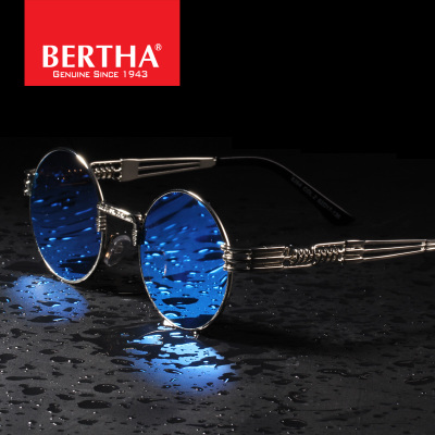Bertha 2015 new color film punk retro round sunglasses sunglasses male female tide Prince mirror sunglasses