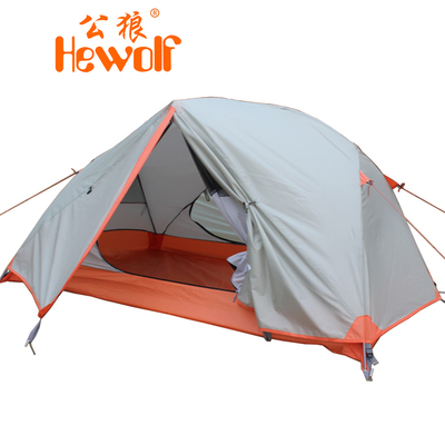 Double rain male wolf outdoor tent camping equipment than double tourism alpine tent camping