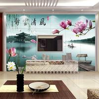 唐韵瓷砖背景墙 瓷砖大型壁画 客厅沙发电视背景墙抛晶砖瓷砖国画