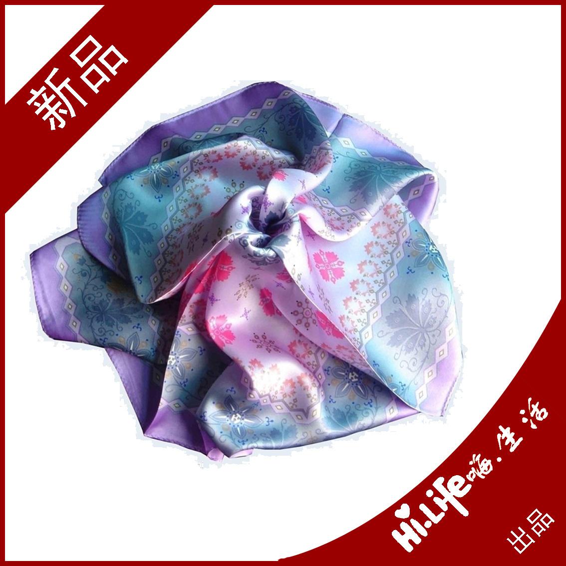 diy创意个性数码印花丝巾披肩热升华围巾 来图定制订做一片起订图片