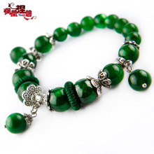 Phoenix Nirvana dry natural crystal bracelet female fashion green handmade jewelry original Chinese style jewelry