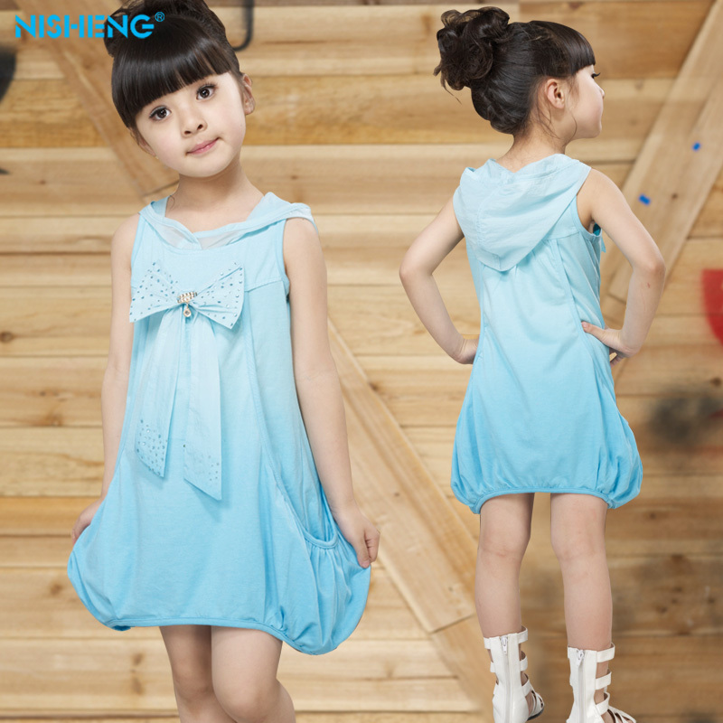 2014 New Girl skirt no sleeve summer colthing babay dress princess  skirt Taobao Agents