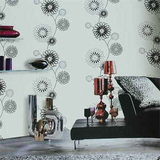 现代花卉墙纸壁纸 温馨卧室客厅电视背景墙纸 时尚家居装修壁纸
