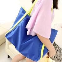 恋包包2014夏新款韩国进口面料糖果色单肩大包荧光色女包爆款潮包