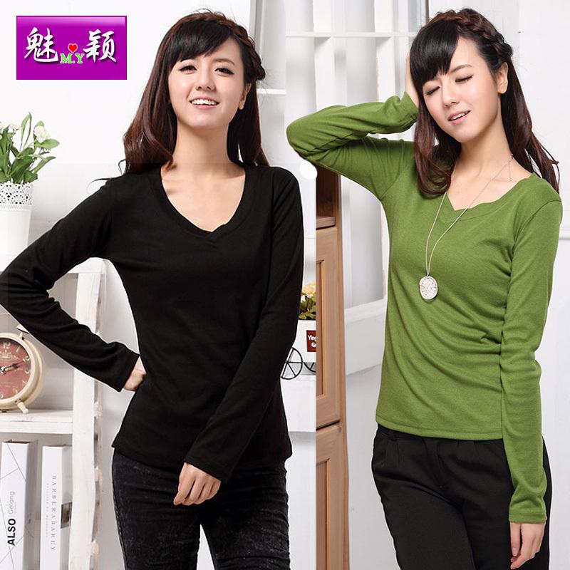 Купить блузку V- T Хлопок Casual Стандартная длина ( 55 - 65см )