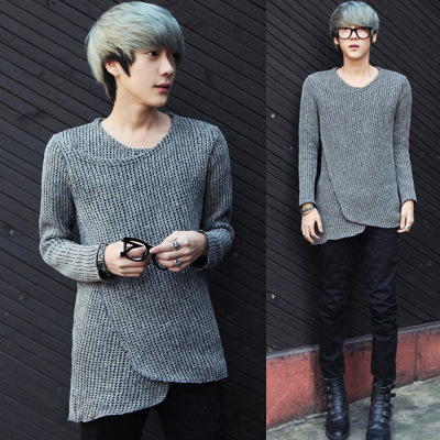 Qiu dong outfit sets the new personality together cultivate one's morality men sweater knit sweater Male han edition tid