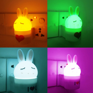 LOVE Bunny lamp LED intelligent light, creative light energy saving lighting control night light rabbit night lights 85g