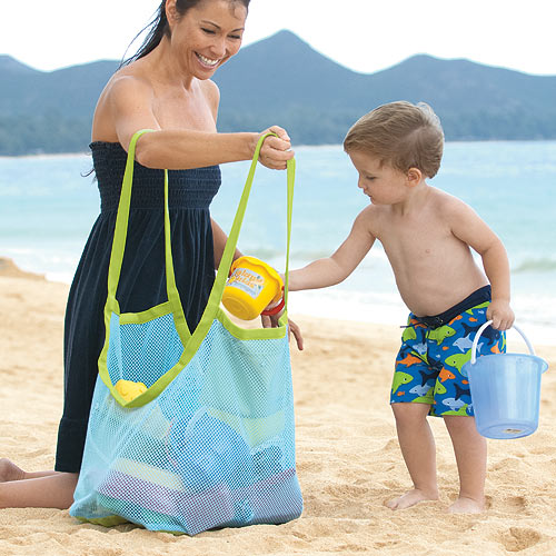Foreign children BEACH mess dredging tool pouch large bags of clothes and towels Toys