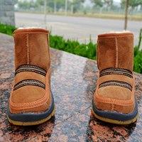 特价两双包邮新款羊皮毛一体男女儿童雪地靴子羊毛鞋真皮冬季棉鞋