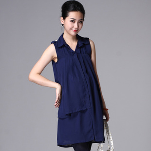 Oubuyanuo 2012 Summer dress fashion skirt loose sleeveless shirt dress in pregnant women 210