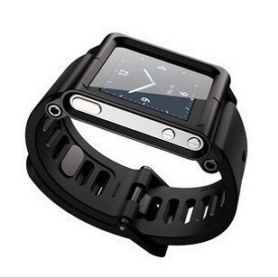 Apple чехол Fetional Ipod Nano 6G LunaTik Watch Wrist Strap Black fetional