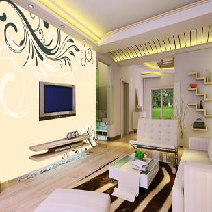 大型壁画墙画 卧室客厅电视墙电视背景墙纸壁纸 现代简约韩式花纹图片