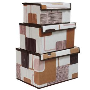 亿银简约收纳盒 整理箱 收纳箱 大中小号 三件套