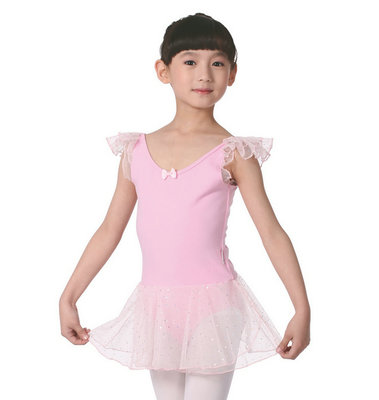Falling redrain dance supplies children's dance ballet skirt veil short-sleeved clothing discount Siamese practice