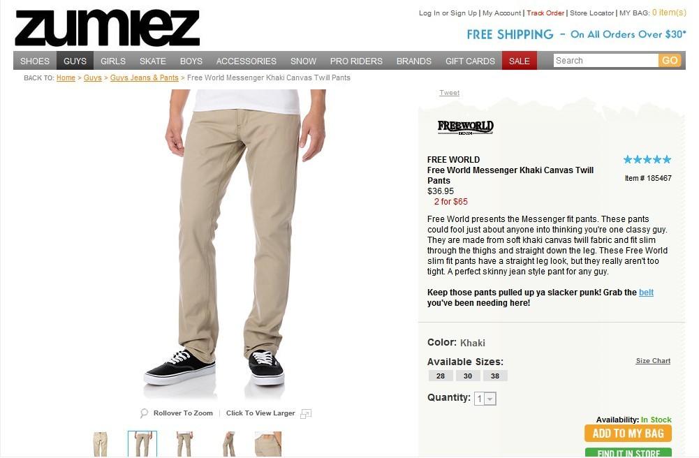 free world khaki pants - Pi Pants