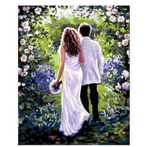 Work life married couple hand-painted cartoon characters diy digital painting digital coloring bedroom living room