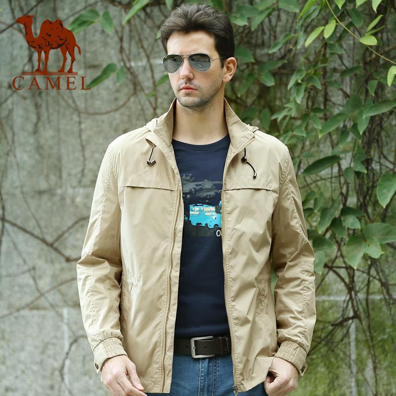 男士 新款 骆驼/骆驼男装2014春装新款中长款风衣商务休闲大衣男士直筒外套