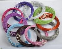 不锈钢丝项圈 项链圈 螺纹钢丝项圈 10色可选 45mm 0.8元/根