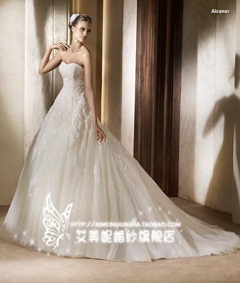 Свадебное платье Ya Lei BH003 2013 года Сетчатый материал Небольшой шлейф Модный