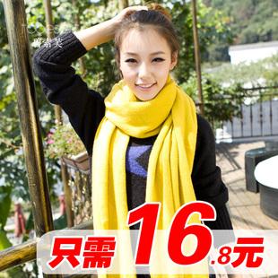 时髦百变温暖无处不在韩版超长针织情侣毛线冬季围巾