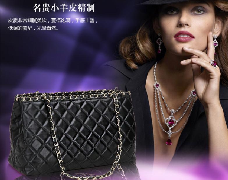Сумка Сумка женская мода новой Европы 2014 Ms ромбические пакеты цепи сумка через плечо сумка кожаная сумка
