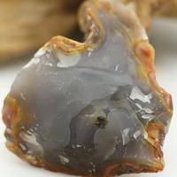 雨默/天然战国红玛瑙北票红缟玛瑙红黄边俏色青肉原石纯肉/雕刻料