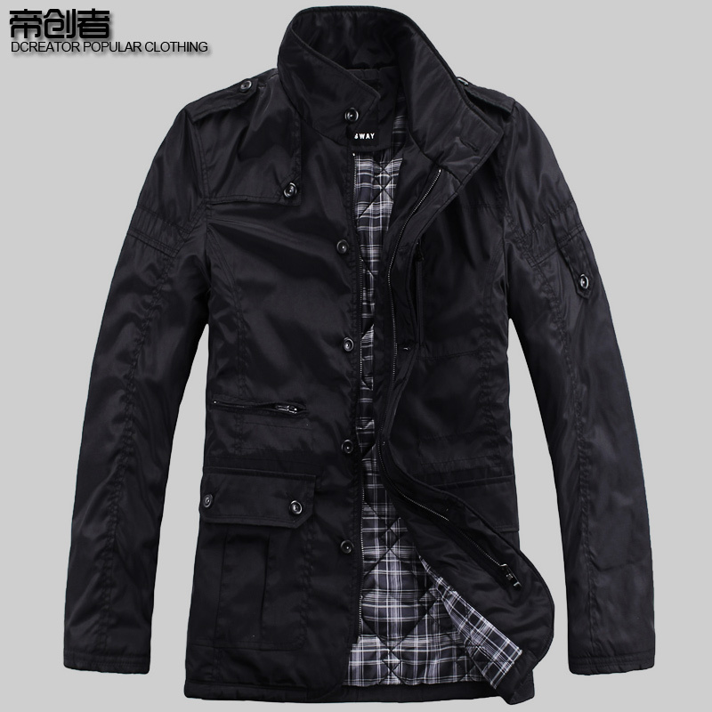 Special clearance sale new style coat men's coat jacket long collar jacket coat men and Europe and the wind flows
