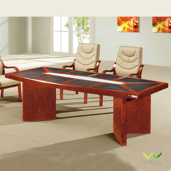 温迪居品包办公家具贴木皮2.4米开会桌会议桌洽谈台商谈台B-3435
