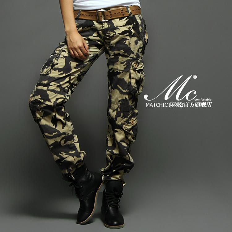 Женские брюки Matchic 2036m Прямые Дикие должны быть удалены Лето, Зима, Осень, Весна
