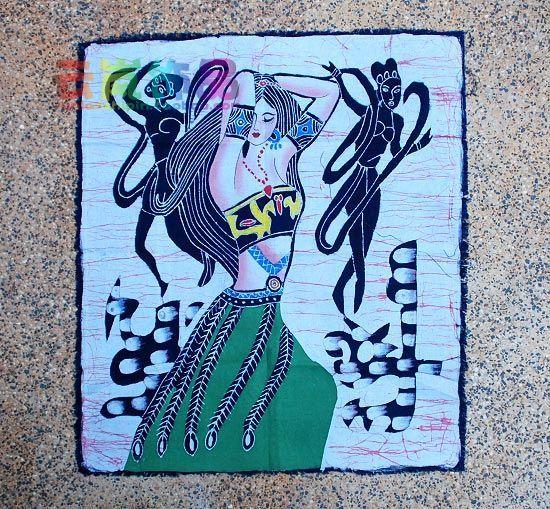 云南特色民族风饰品 单蜡染.仙女下凡 名族风 家居 装饰 配件图片