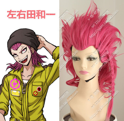Original cosplay wig fake hair around fields and a projectile round dance two big bangs Rose Red Widow's peak anti-Alice