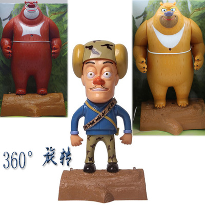 Boonie Bears Xiong Xiong Erguang strong 360-degree rotating head skateboard toys