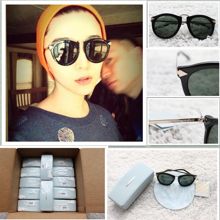 e68cab2aca3d [US Shopping ] Wallace Harvest arrow Karen Walker sunglasses rimmed  sunglasses. Loading zoom