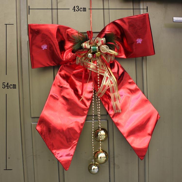Елочное украшение Роскошные Рождество короля размера Кинг-сайз лук лук лукЛук Рождественский красный бант