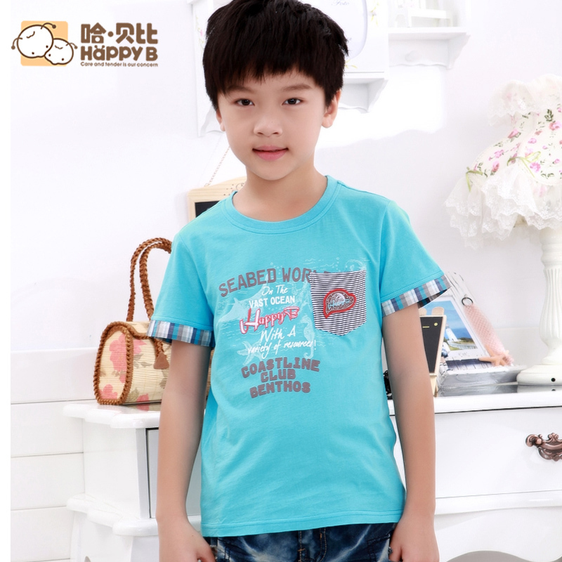 HappyB  boys t shirts short sleeve cotton t shirts boy t shirts children's wear new large boys t shirt