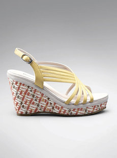 Basha classic wild PU woven shoes new 2012 dream casual wedges Sandals 122,412,220