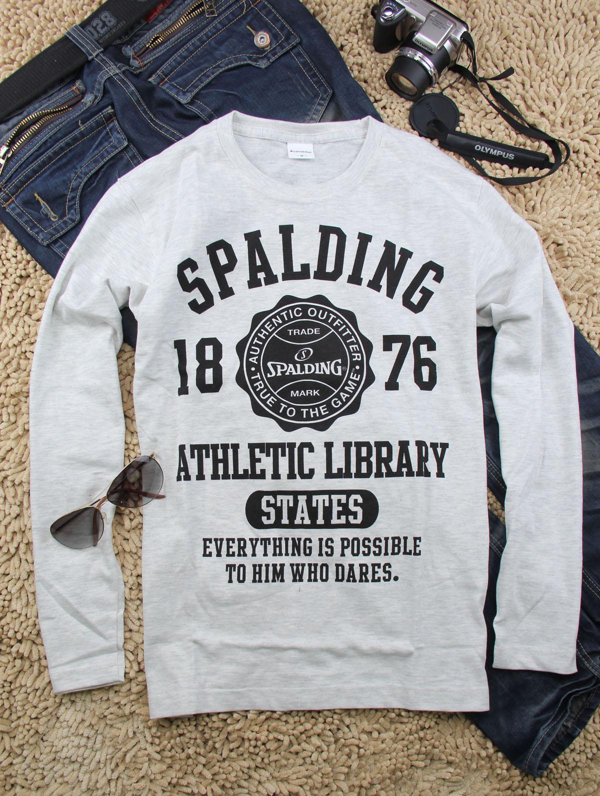 Спортивная футболка Spalding 1172/7302 LOGO Стандартный Воротник-стойка 100 хлопок Логотип бренда, Надпись, Рисунок