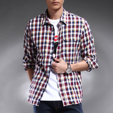 Рубашка мужская LEE 6435/602b 6435-602B Воротник-стойка Длинные рукава ( рукава > 57см )