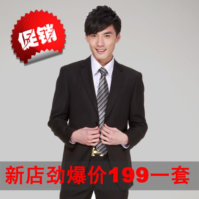 新男士修身商务新郎正装西服纯黑工作结婚礼服西装套装 G2000同版