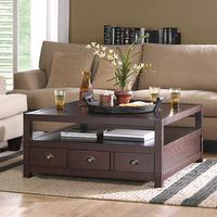 格调木坊 茶几实木家具美式家具家具美式实木咖啡桌茶几定制