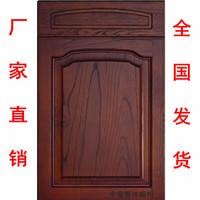 实木橱柜门板定做欧式田园风格整体厨柜实木门板定做厨房橱柜定制