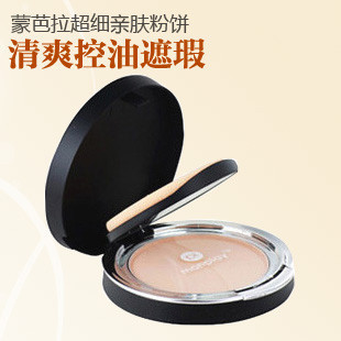 Recommended!monplay beautiful said Meng Bala Super fine powder oil-control Cover moisturizing with mirror powder puff 9,056