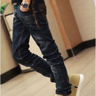 Джинсы мужские 202 202 Облегающий покрой Классическая джинсовая ткань Молодежная одежда для отдыха 2012