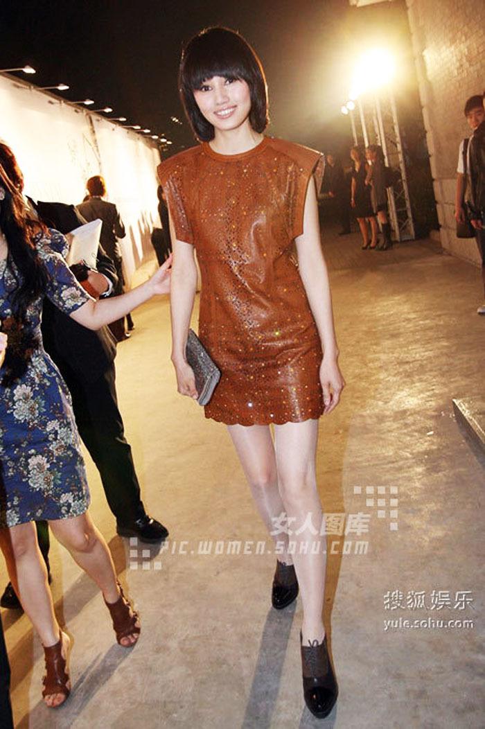 Женское платье Shaynejeans YOU Осень 2012 Овечья кожа