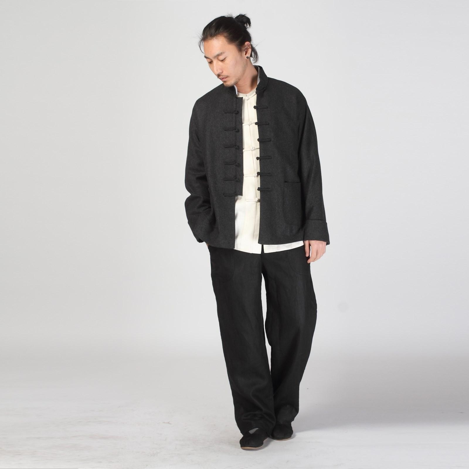 中老年棉袄_2013新款秋冬时尚男士妮子唐装外套中式休闲长袖唐装_木真鸟