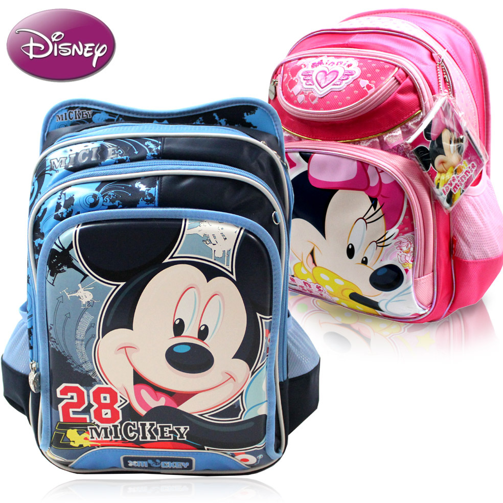 包邮!正品迪士尼儿童书包 米奇书包 小学生书包双肩包 男生女生