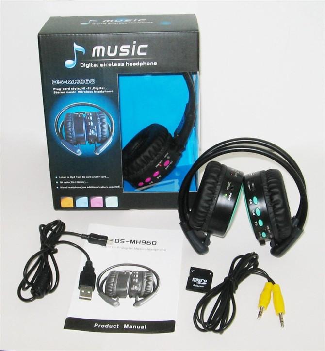 赛立科 MH960 头戴式 数码音乐插卡耳机 多功能无线插卡MP3耳机